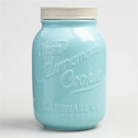 Mason Jar Ceramic Cookie Jar