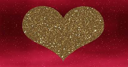 Heart Animated Glitter Hearts Pink Gifs Bedtime