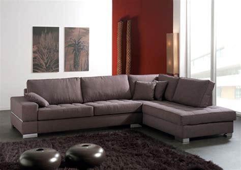 salon avec canapé d angle canapé d 39 angle à droite santa barbara marron