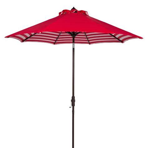 striped outdoor umbrella white west elm