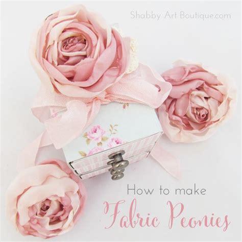 shabby fabric flowers diy shabby art boutique diy fabric peonies 9 flowers