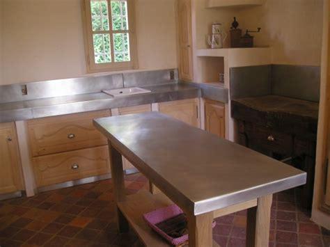 plan de travail en zinc pour cuisine creation autour du zinc cuisine et ilot