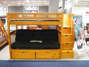 twin over full futon bunk bed With twin bunk bed over futon sofa