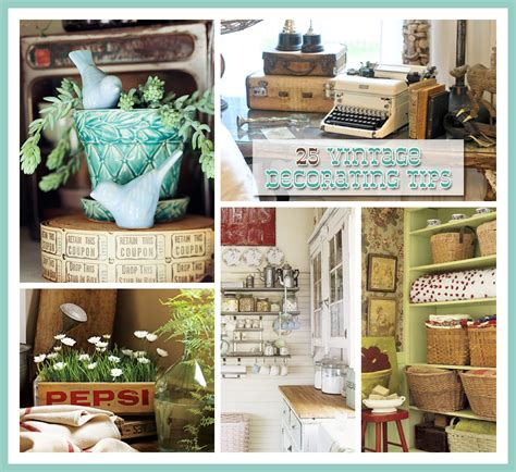 Simple Kitchen Decorating Ideas - 25 vintage decorating tips the cottage market