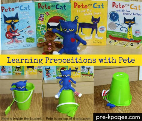 learning prepositions with pete the cat 422 | learning prepositions with pete the cat