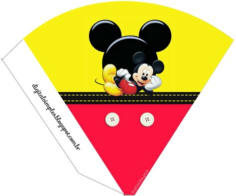 mickey  yellow  red  printable party kit
