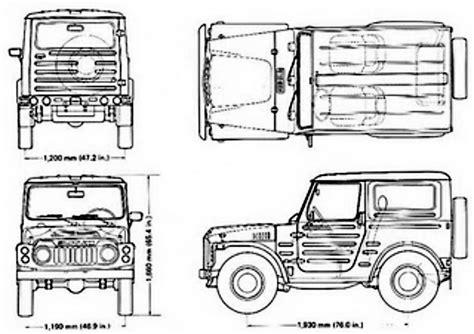 Suzuki Samurai Dimensions by Suzukijeepinfo Drawing Model