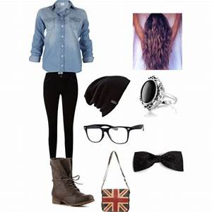 Shoes hat hipster beanie retro nerd nerd glasses long hair purse boots denim jeans ...