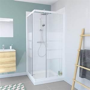 porte de douche coulissante elie angle 80x80 cm verre With porte de douche coulissante avec rénovation salle de bain quimper