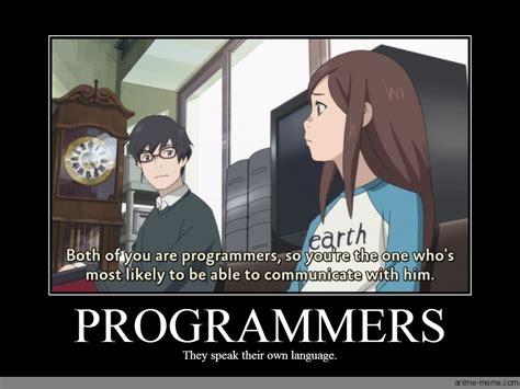 Programer Meme - programmers anime meme com