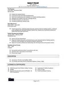 Steamfitter Pipefitter Sle Resume by Plumbers Resume Template 40 Images Construction Cv