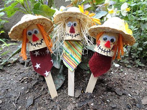 Craft Stick Scarecrows  Crafts By Amanda