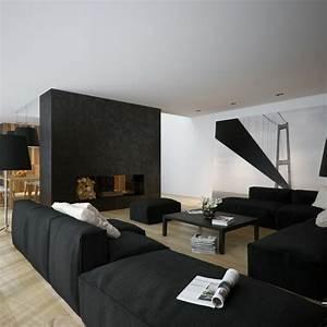 Wohnzimmer Accessoires Bringen Leben Ins Zimmer : schwarze wandfarbe bringt charme und dramatik ins innendesign ~ Lizthompson.info Haus und Dekorationen