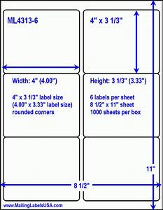 avery white mailing labels printers With 6 up label template