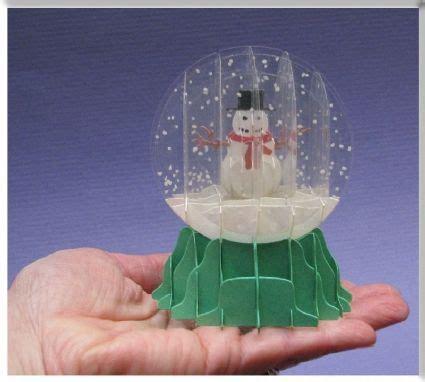 sliceform snow globe pop  card sliceform pinterest