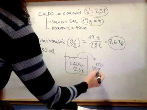 f 205 sica y qu 205 mica 3 186 e s o c 243 mo hacer problemas de disoluciones 2 youtube