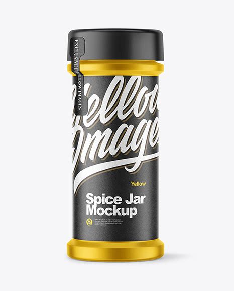Using a nice and attractive looking jar mockup will help your product marketing and create a good impression of your product. Spice Jar Salt Mockup Yellowimages - Free PSD Mockup Templates
