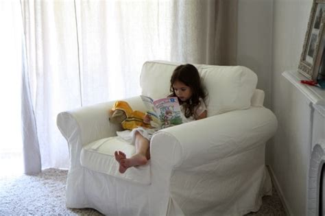 a soft comfy reading chair small notebook