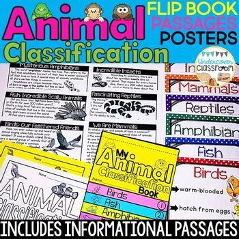 Animal Classification Flip Book Animal Posters Animal