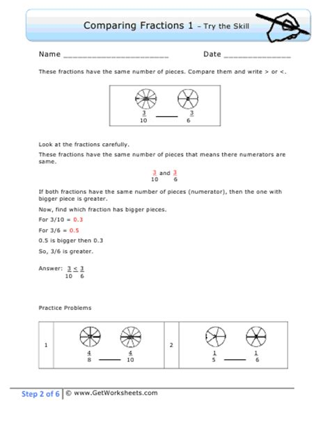 5th grade math worksheets comparing fractions 5th grade math worksheets comparing fractions fractions