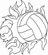 Volleyball Coloring Pages Printable Ball sketch template