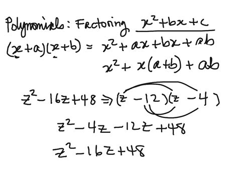 Algebra Worksheet Section 105 Factoring Polynomials Answers