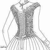Colorir Therapy Coloring Corset sketch template