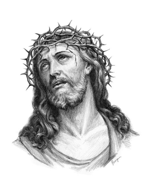 Jesus Crown of Thorns by ChrisPanza | Jesus christ drawing, Christ tattoo, Jesus tattoo
