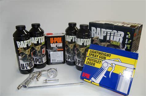 U Pol Raptor Bed Liner by U Pol Raptor Black Truck Bed Liner Kit With Spray Gun