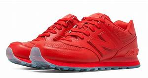 New Balance 574 Perforated Goes All Red | Nice Kicks