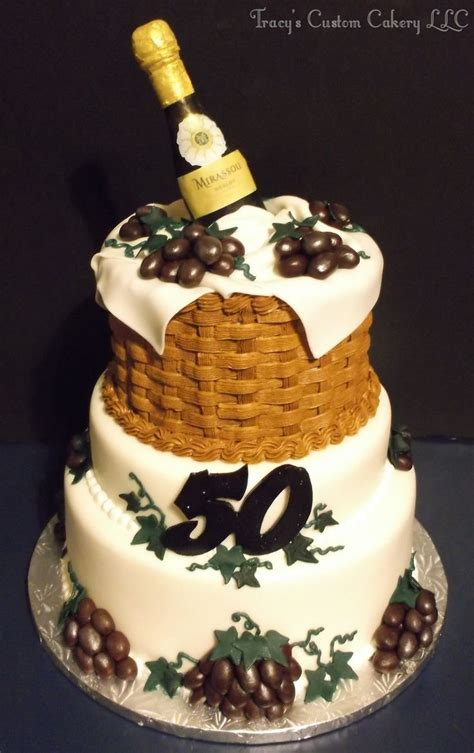 wine theme cakes ideas  pinterest birthday