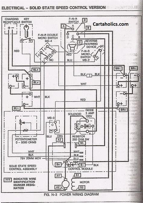 ezgo marathon wiring diagram ezgo 93 marathon wiring cartaholics golf cart forum
