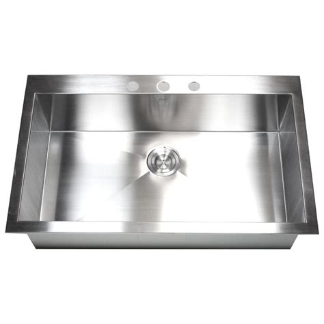 kitchen sink one bowl 36 inch top mount drop in stainless steel single 5878