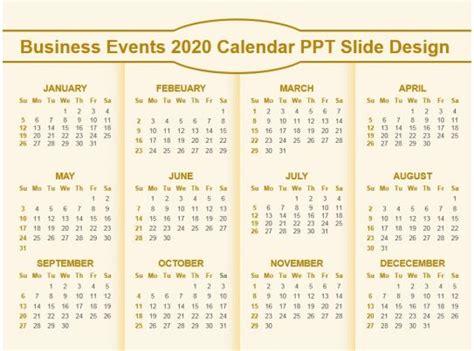 business calendar design templates powerpoint