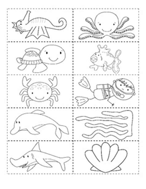 sea animals worksheets for preschoolers best photos of animals worksheets cut out 614
