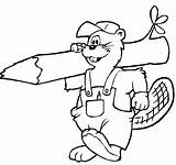 Beaver Coloring Pages Print sketch template