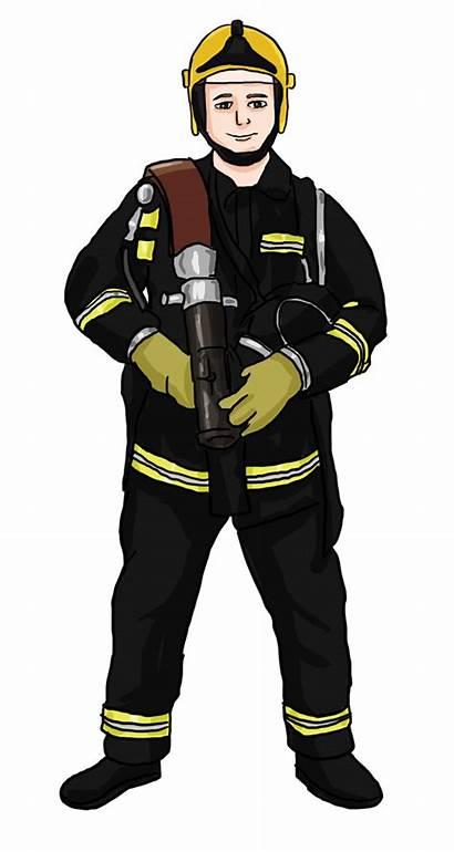 Fireman Firefighter Clip Clipart Fire Firefighters Fighter