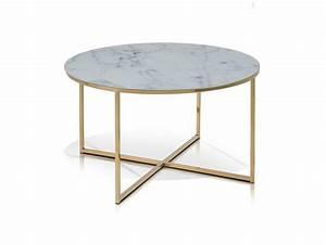 Glasplatte Rund 50 Cm : aminda couchtisch rund 80 cm glasplatte mit marmorprint gold ~ Frokenaadalensverden.com Haus und Dekorationen