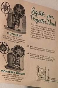 Bell  U0026 Howell 8mm Projector Manual  U2013 253  253ar Monterey