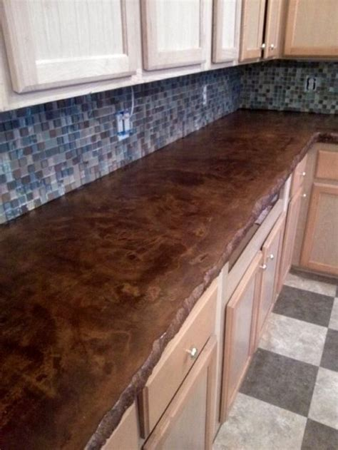 black concrete countertops colors brown colors and furniture on 1674