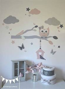 stickers decoration chambre enfant fille bebe branche cage With deco mural chambre bebe