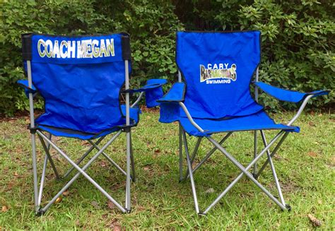 personalized chair coaches gift custom folding by