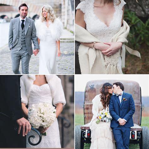 cold wedding cold weather wedding dress cover ups popsugar fashion