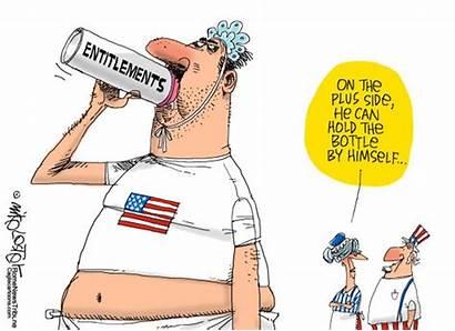 Cartoons Political Entitlements Cartoon Entitlement Analyzing Education