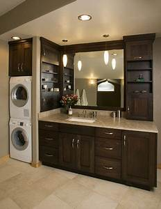 Pictures of bathrooms with washer and dryers like the for Bathroom ideas with washer and dryer