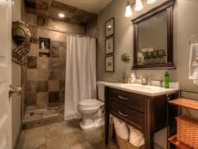Primitive Bathroom Design Ideas by Traditional 3 4 Bathroom With High Ceiling Amp Flush In