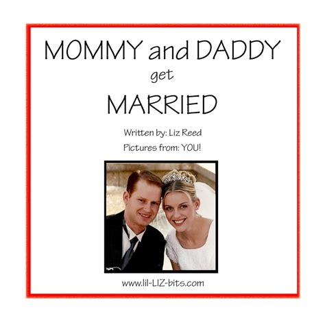 photo book template mommy  daddy  married quick