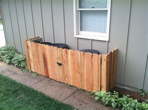 minimalist backyard  diy garbage  storage ideas