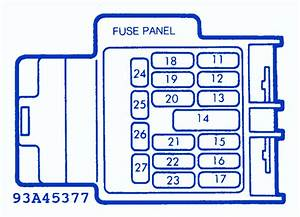 Mazda Mx-5 Miata 2000 Cruise Control Fuse Box  Block Circuit Breaker Diagram