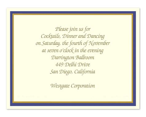 10 Best Images Of Business Dinner Invitation Template
